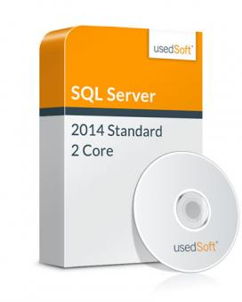 Microsoft SQL Server 2 Core 2014 Standard Licenza volume incl. DVD