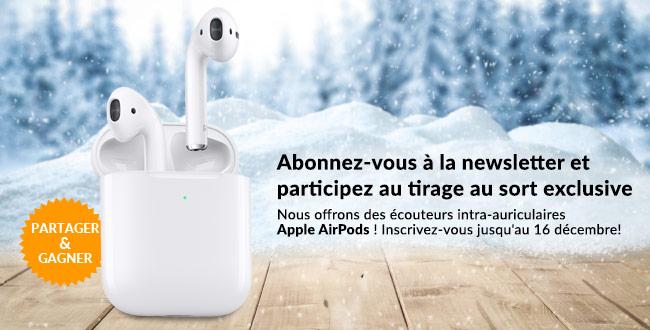 « Gagnez des AirPods Apple ! »